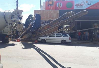 Acidente em Obra na Praça da Matriz de São Carlos Borromeu