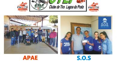 Clube de Tiro arrecada fundos e faz doações