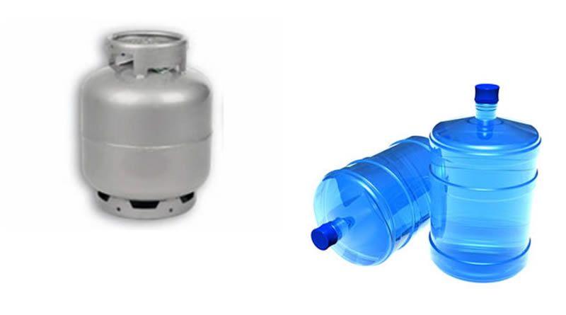 Gás de Cozinha e Água Mineral.