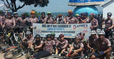 Ciclistas de Lagoa da Prata vão 4 anos em Campos Altos em Bike Romaria