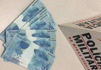 Policia Militar prende casal e apreende R$ 600,00 em notas falsas