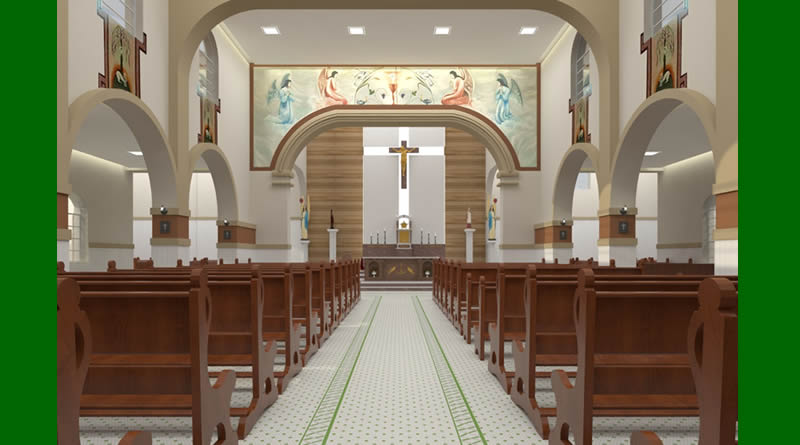 Protótipo do projeto da reforma da Igreja Matriz de Lagoa da Prata