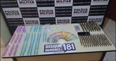 Policia Militar apreende mais de 600 pinos de cocaína