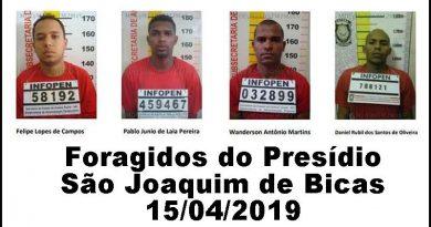 Polícia procura detentos que fugiram do Presídio de São Joaquim de Bicas