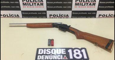 Policia Militar Apreende Arma em Mirandas