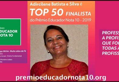 Lagoa da Prata tem professora finalista no Prêmio Educador Nota 10