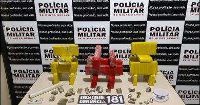 Policia Militar apreende 15 kg de maconha no Bairro Marília