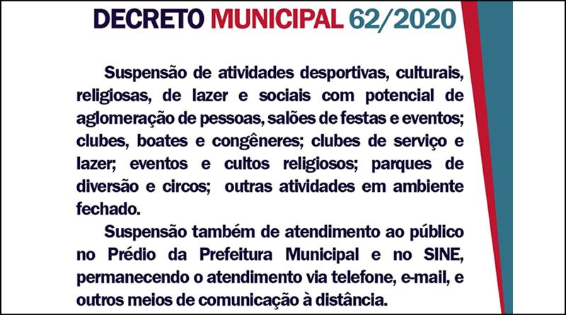 Prefeitura decreta Situação de Emergência em Saúde Pública