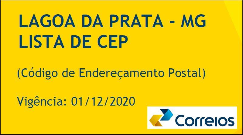 Lagoa da Prata tem novos CEPs a partir de 01 de dezembro