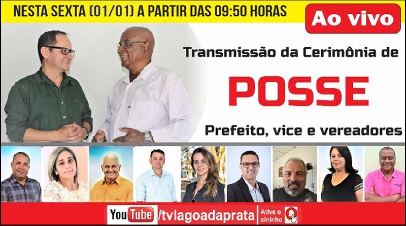 [TV Lagoa] Posse do prefeito, vice e vereadores – Ao vivo