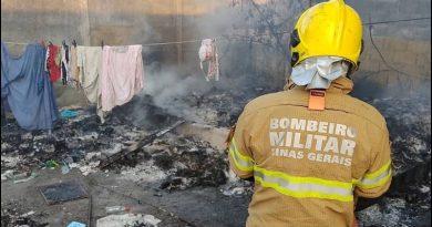 Incêndio em Residência em Lagoa da Prata