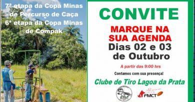 Clube de Tiro sediará 7ª Copa Minas de Percurso de Caça e 6ª Copa Minas de Compak