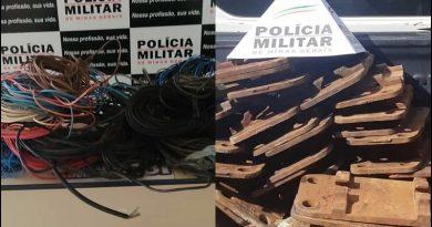 Indivíduos são presos por furtar de placas e grampos de trilhos e fiação elétrica